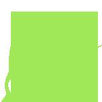 Значок дезинфектор зеленого цвета