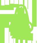 Изображен Нос зеленого цвета