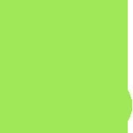 Значок 24\7 зеленого цвета