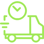 Значок машинка зеленого цвета