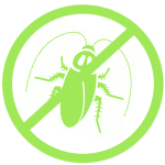 Значок таракан зеленого цвета